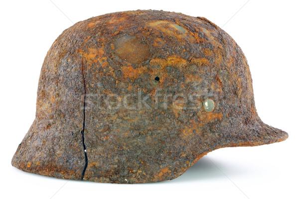 Protective helmet of the German soldier Stock photo © vavlt