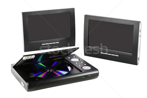 Media DVD device with clear screens Stock photo © vavlt