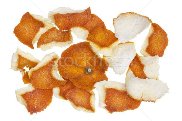 Drogen stoffig oranje schil best natuurlijke Stockfoto © vavlt