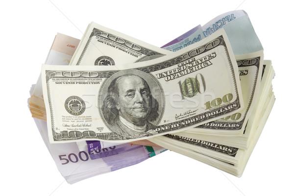 Falso brinquedo papel dinheiro isolado Foto stock © vavlt