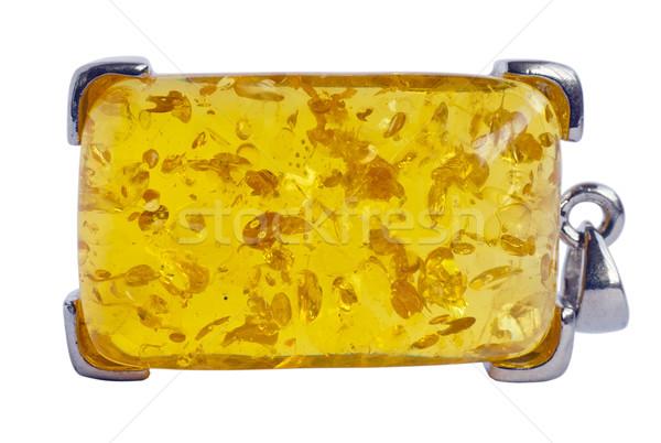 Bursztyn smart srebrny makro odizolowany Zdjęcia stock © vavlt