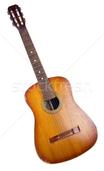 Old acoustic guitar Stock photo © vavlt
