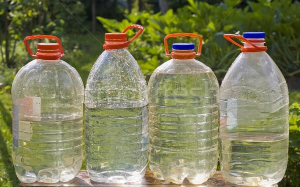 Botellas puro agua ecológico primavera naturaleza Foto stock © vavlt