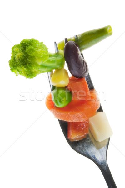Düzeltmek sebze diyet eski gümüş fiş Stok fotoğraf © vavlt