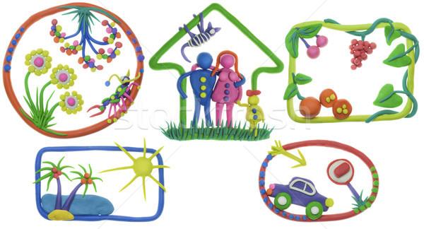Stock fotó: Enyém · élet · ház · család · autó · étel