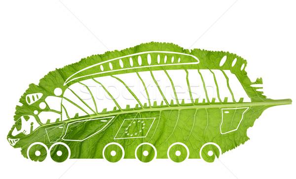 зеленый евро поезд Эко изолированный наивный Сток-фото © vavlt