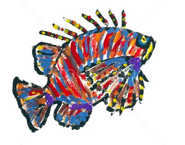 Lionfish Scoprionfish abstract image Stock photo © vavlt