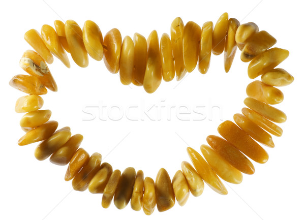 Amber hart Geel stenen geschenk datum Stockfoto © vavlt