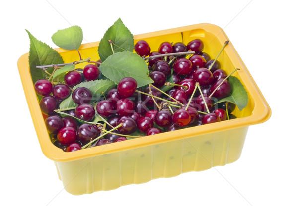 назад красный вишни контейнера используемый желтый Сток-фото © vavlt