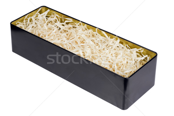 Tin box with straw for the wine Stock photo © vavlt