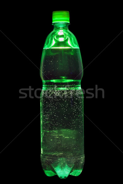 Green bottle with cream-soda Stock photo © vavlt