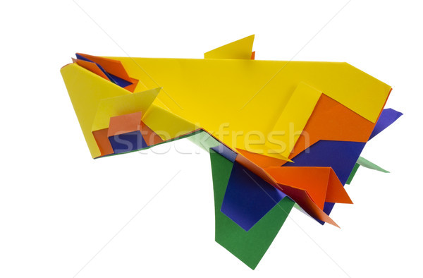 Fantastic paper airplane Stock photo © vavlt