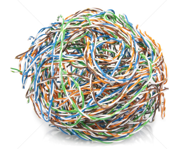 Big ball from a cable twisted pair Stock photo © vavlt