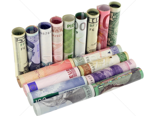Stockfoto: Model · sofa · geld · samen · cijfer · soortgelijk
