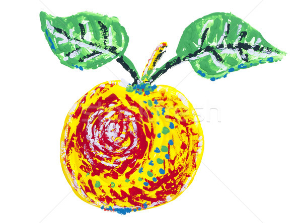 Abstract isolated  painted apple Stock photo © vavlt