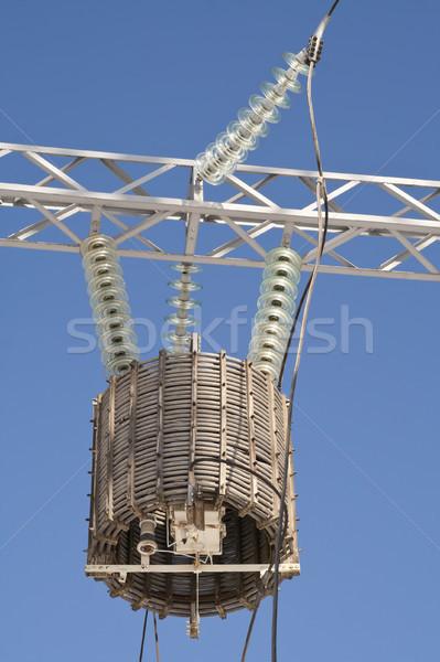 Transformador alto energia céu poder elétrico Foto stock © vavlt