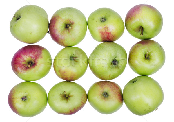 A dozen ordinary green  apples Stock photo © vavlt