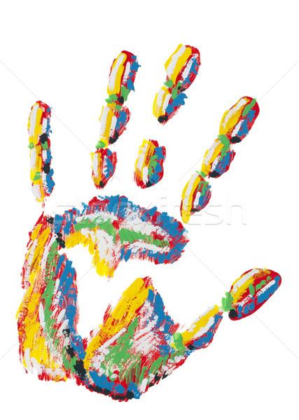 Rainbow handprint isolated Stock photo © vavlt