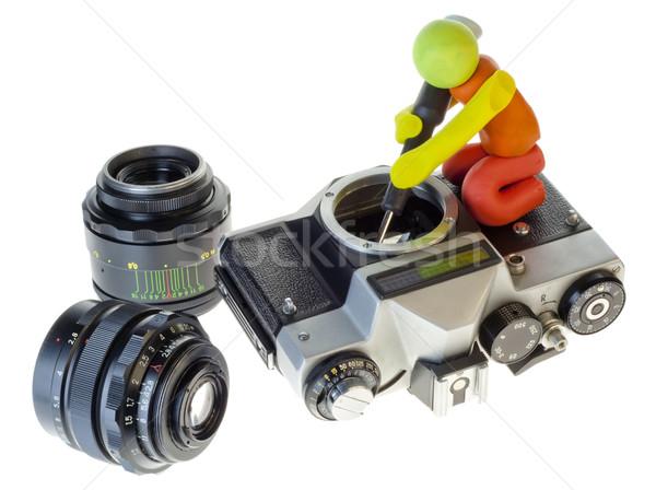 Retro repair of an old camera concept Stock photo © vavlt