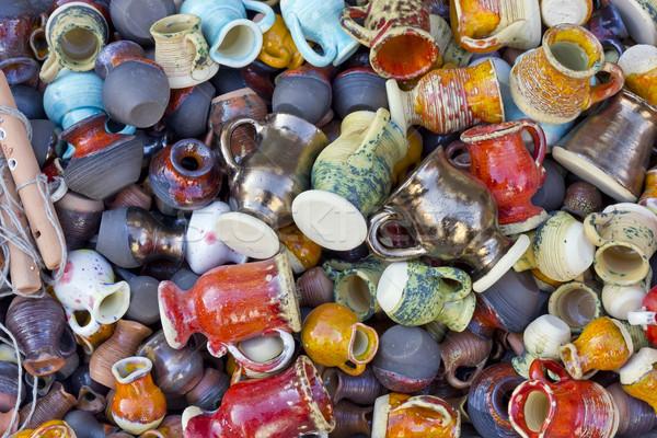 Ceramica coppe piccolo multicolore massa produzione Foto d'archivio © vavlt