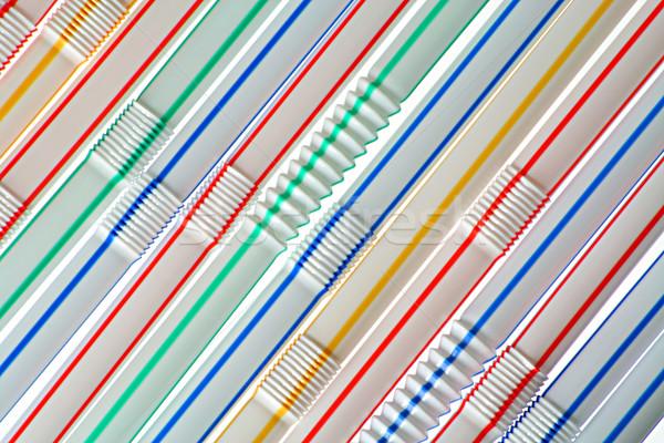 The straws for drinks Stock photo © vavlt
