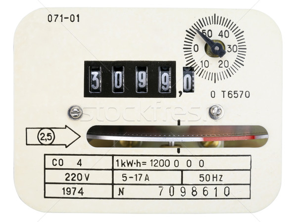 Stock photo: Retro measuring instrument of electric energy