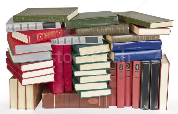 Oude retro kleur dekken boeken hoop Stockfoto © vavlt