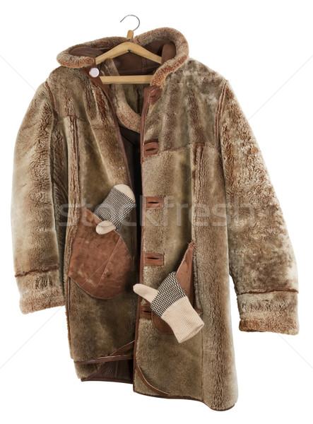 Female fur coat is turned inside out Stock photo © vavlt