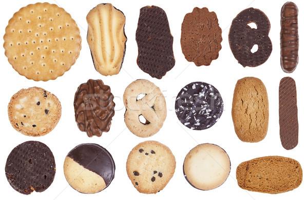 Chocolat cookies isolé beaucoup faible Photo stock © vavlt