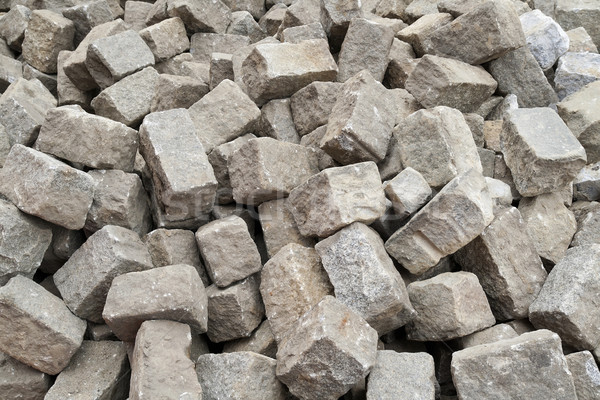 Heap of granite stones- Moscow, Russia Stock photo © vavlt