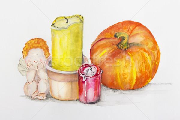 нежный натюрморт Хэллоуин хорошие ручной работы акриловый Сток-фото © vavlt