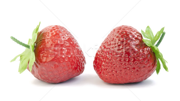 Plastic artificial berries of a strawberry Stock photo © vavlt