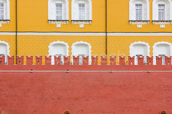 Oude retro kasteel muur oude geschiedenis Stockfoto © vavlt