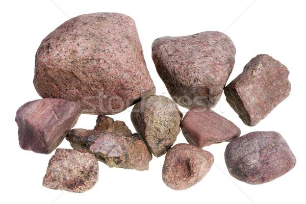 Red street stones Stock photo © vavlt