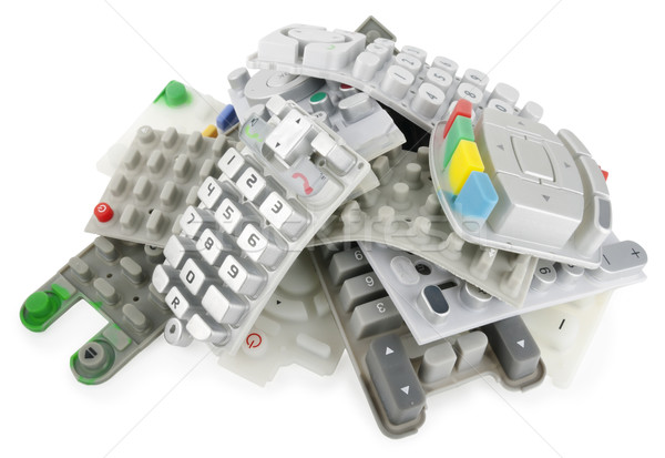 Heap of rubber keypads Stock photo © vavlt