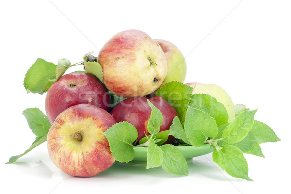 Stock photo: Appels grown without fertilizers