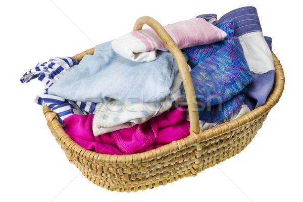 Wasmand eigengemaakt bereid wassen geïsoleerd Stockfoto © vavlt