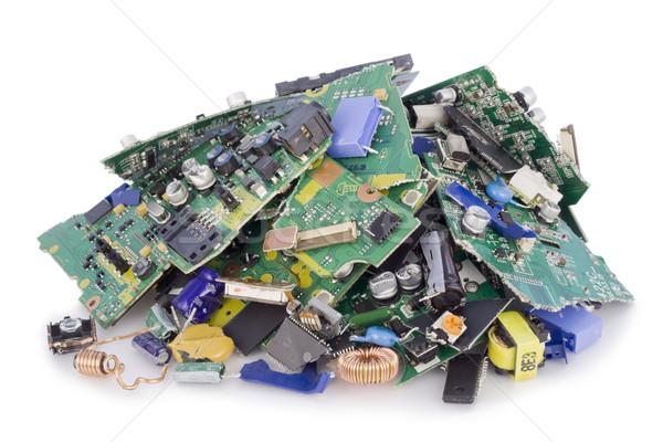 разрушенный сломанной электроника Cut частей электронных Сток-фото © vavlt