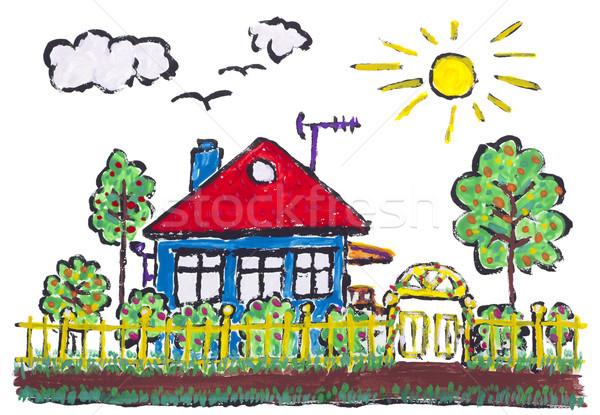 Ideal painted village Stock photo © vavlt