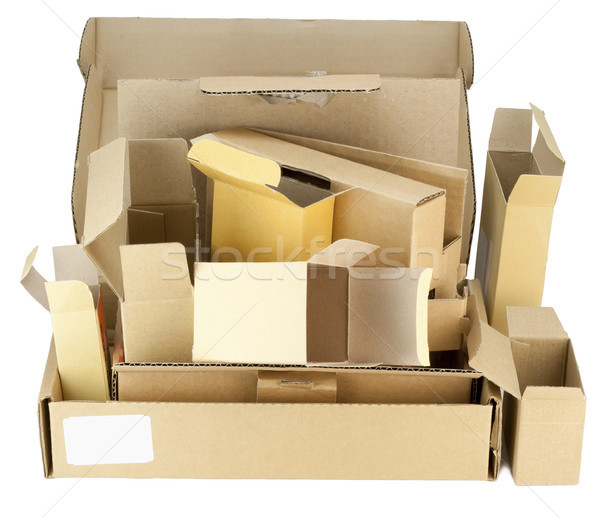 Many real small cardboard boxes  Stock photo © vavlt