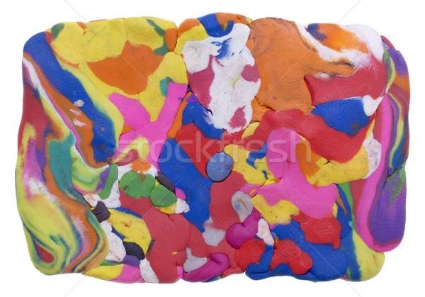 Prostokątny tęczy banner mieszany kolorowy glina Zdjęcia stock © vavlt