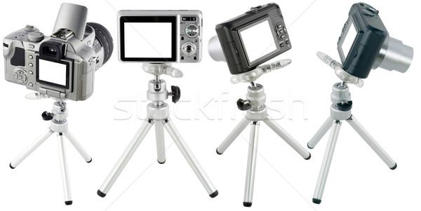 Compact cameras  on tripod  set Stock photo © vavlt
