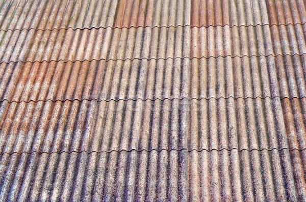 Texture  of an old dirty tile roof Stock photo © vavlt