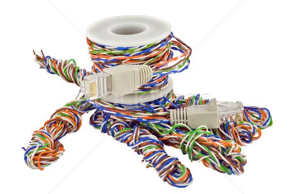 Strony Internetu kabel kabel komputerowy odizolowany Zdjęcia stock © vavlt