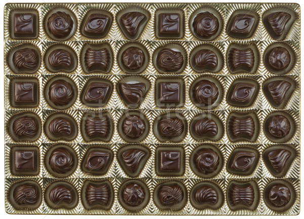 Chocolates with a various stuffing background Stock photo © vavlt