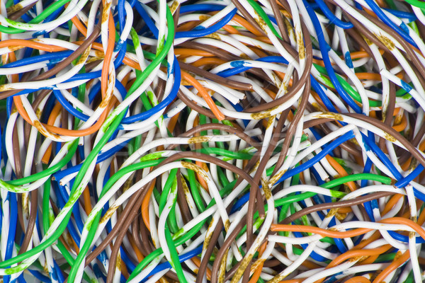 Confundirse color cables macro blanco oscuro Foto stock © vavlt