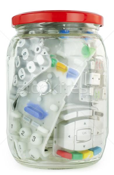 Tinned rubber keypads Stock photo © vavlt