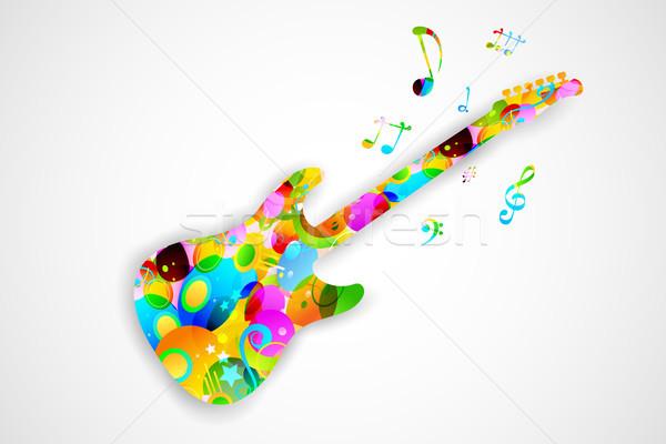 カラフル ギター 実例 演奏 ミュージカル チューン ストックフォト © vectomart