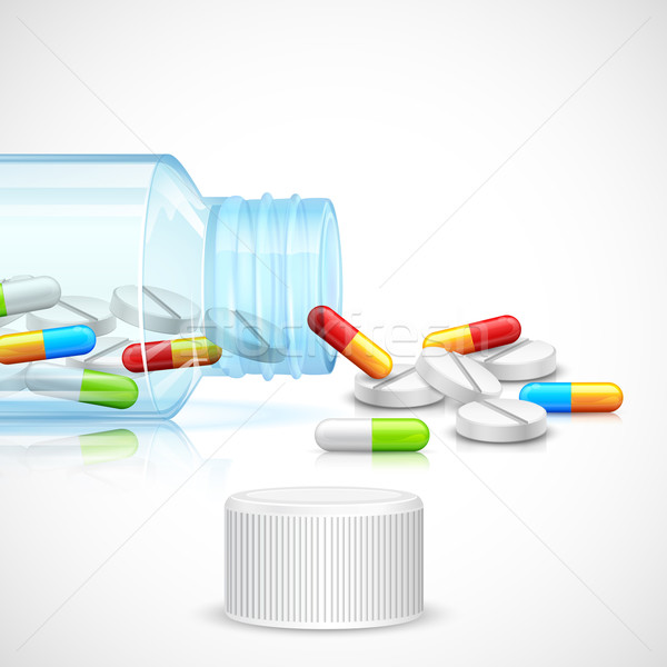 Medicine Capsule in Bottle Stock photo © vectomart