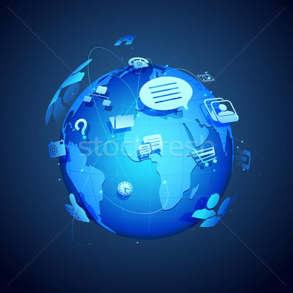 Global Networking Stock photo © vectomart